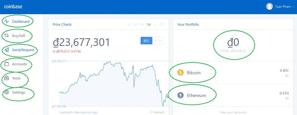 Coinbase上的比特币钱包接口