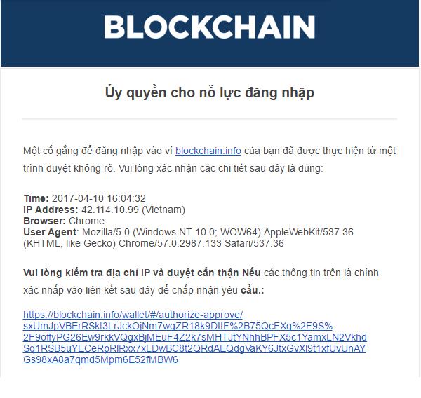 Cấp quyền truy cập vào ví blockchain
