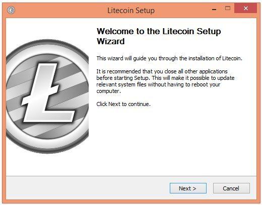 Tạo ví Litecoin bước 1