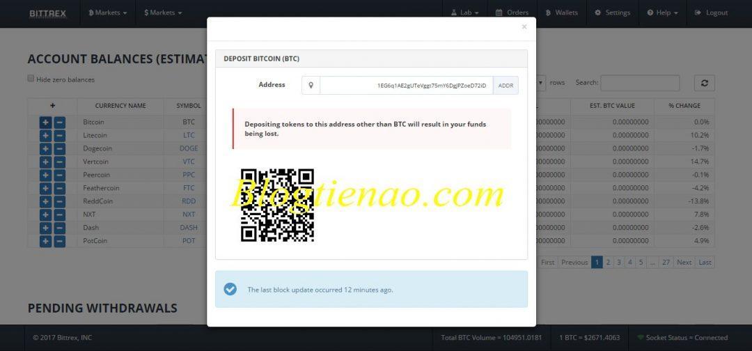 Verkrijg het Bittrex-portefeuilleadres