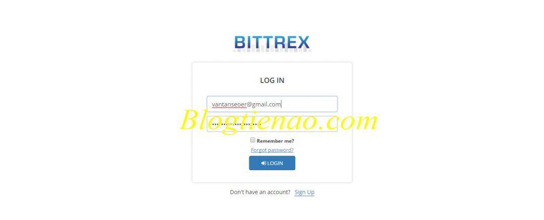 Ga verder met inloggen op Bittrex 2