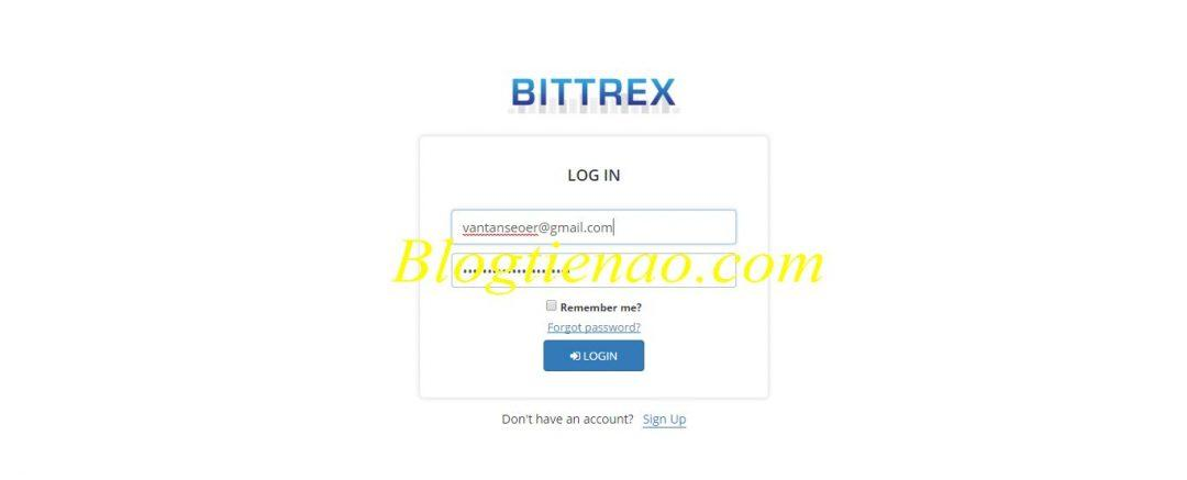 Bittrex 2 میں لاگ ان کرنے کے لئے آگے بڑھیں