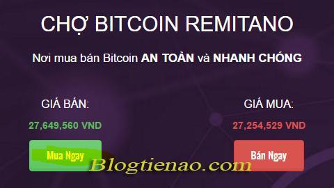 Mua ngay Bitcoin để Remitano tự động chọn người bán