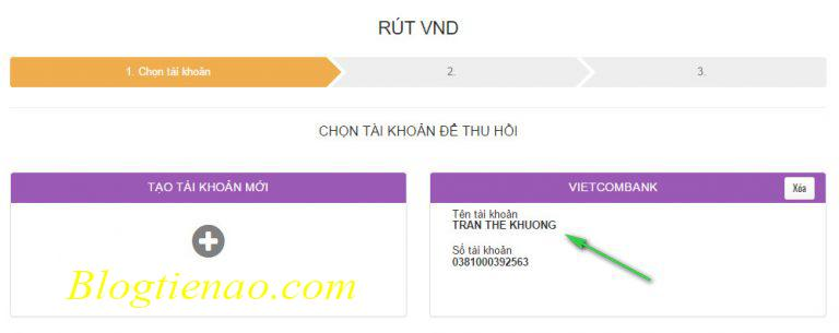 Geld opnemen bij Vietcombank