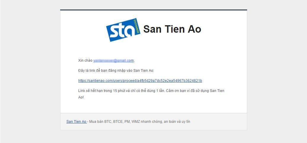 Xác nhận đăng ký tài khoản trên santienao.com