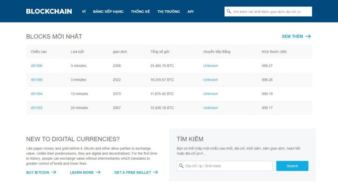 Blockchain.info ví trữ nóng Bitcoin uy tín