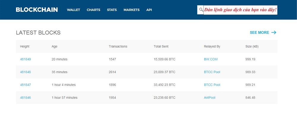 Mở ví Blockchain của bạn ra