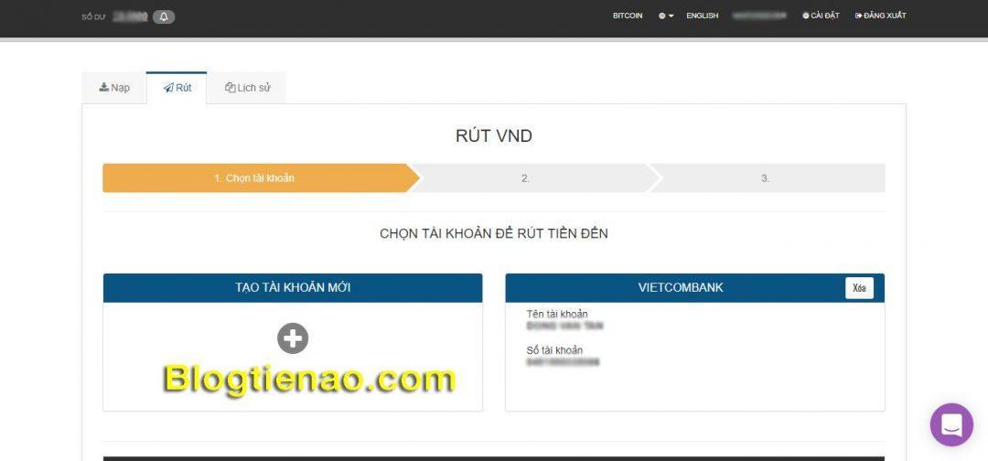 Thêm Vietcombank thành công