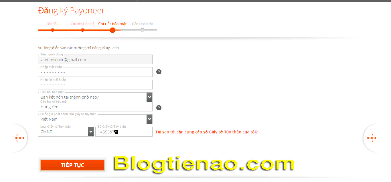 Hướng dẫn đăng ký tài khoản Payoneer. Ảnh 3