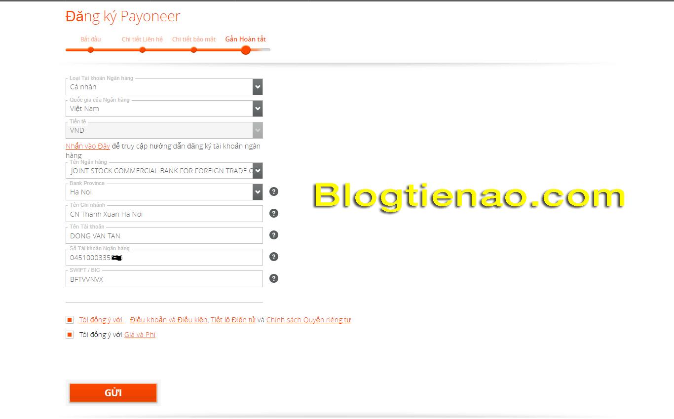 Hướng dẫn đăng ký tài khoản Payoneer. Ảnh 4