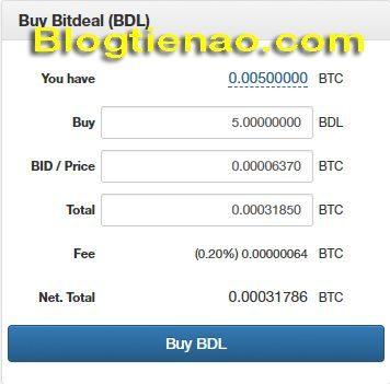 Cách mua Bitdeal trên NovaExchange. Ảnh 3