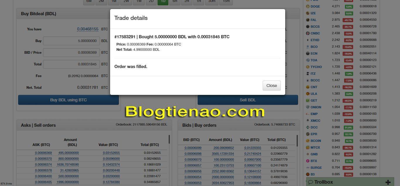 Cách mua Bitdeal trên NovaExchange. Ảnh 4