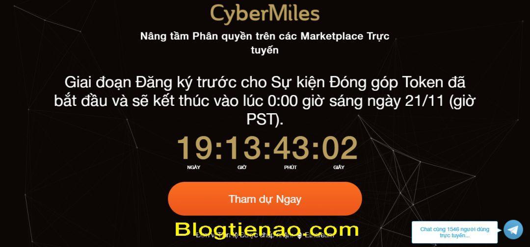 قم بالتسجيل للحصول على حساب CyberMiles. الصورة 1