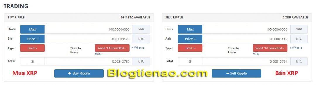 Bittrex پر لہر خریدنے اور فروخت کرنے کا طریقہ تصویر 3