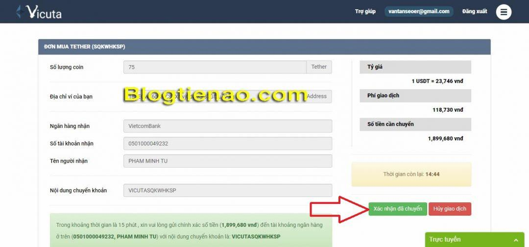 How to buy USDT on Vicuta. Photo 5