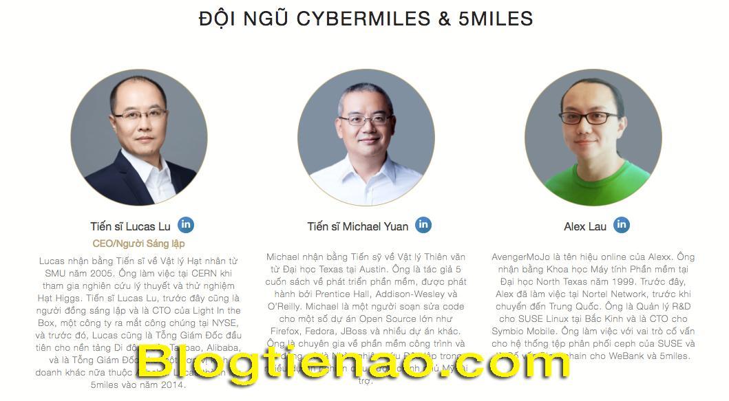 Đội ngũ CyberMiles và 5miles