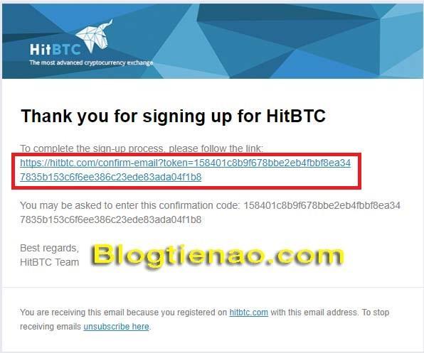 Zaregistrujte podlahu HitBTC. Foto 3