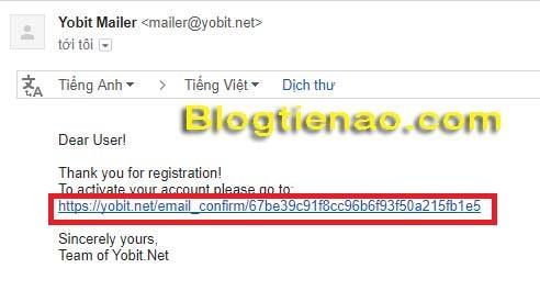 Cách đăng ký tài khoản trên YoBit. Ảnh 3