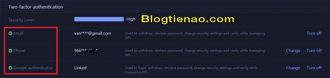 Bảo mật tài khoản HuobiPro. Ảnh 14