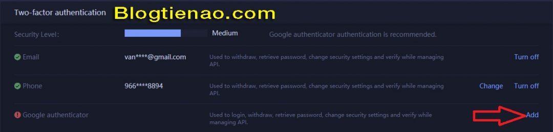 Bảo mật tài khoản HuobiPro. Ảnh 7