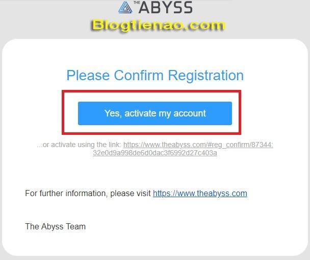 Đăng ký tài khoản The Abyss. Ảnh 3