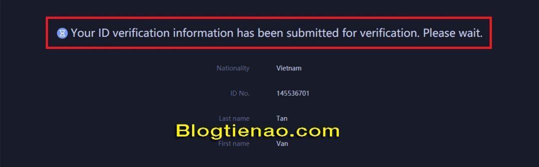 Verify identity with Huobi. Photo 3