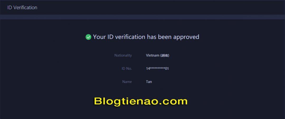 Verify identity with Huobi. Photo 4