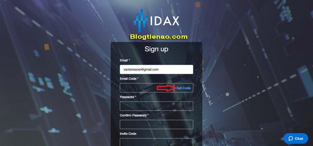 Đăng ký IDAX. Ảnh 1