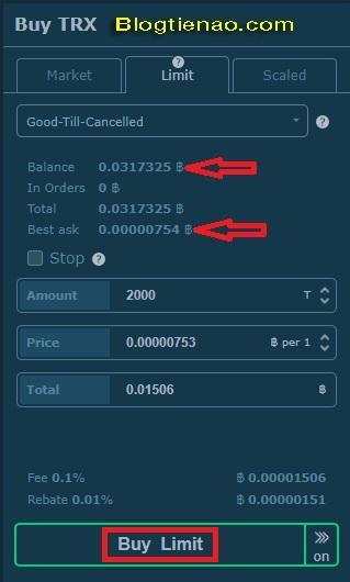 Cách mua bán giao dịch trên HitBTC. Ảnh 3