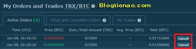 Cách mua bán giao dịch trên HitBTC. Ảnh 5