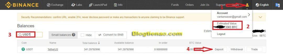 Создать кошелек USDT на Binance. Фото 1