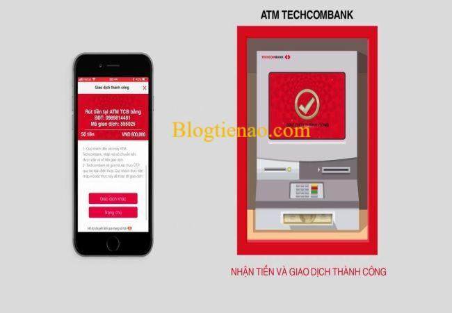 سحب الأموال بدون Techcombank