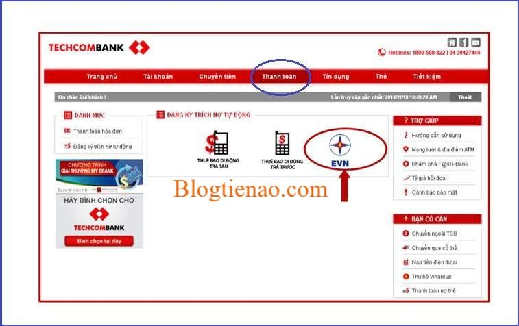 paiement-internet-banque-techcombank