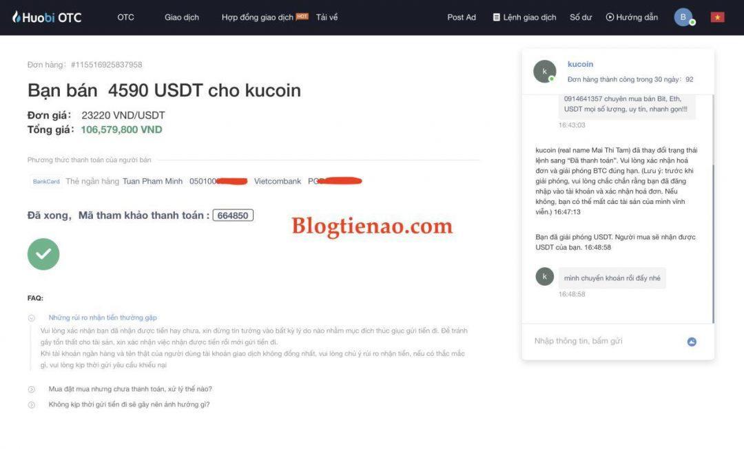 ビットコイン、USDTの成功した販売