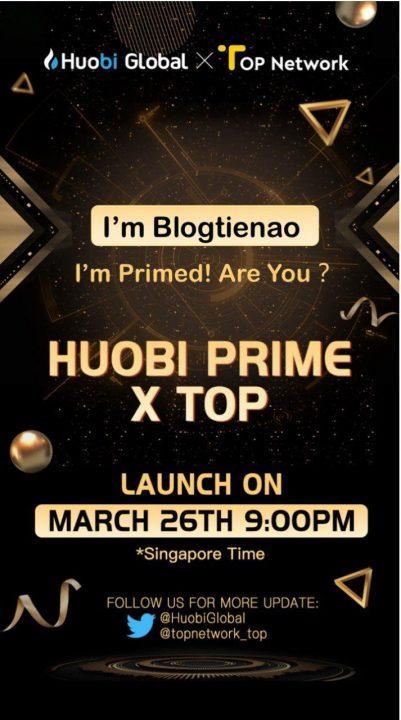 IEO Top Network ، أول IEO من Huobi Prime