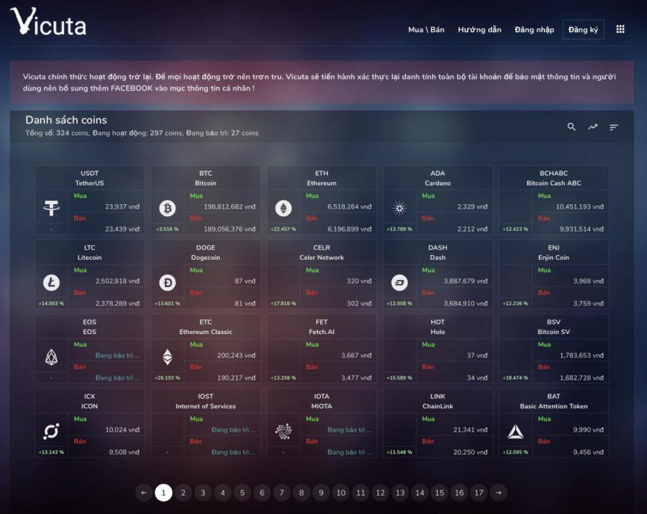 Vicuta - domovská stránka bitcoinů