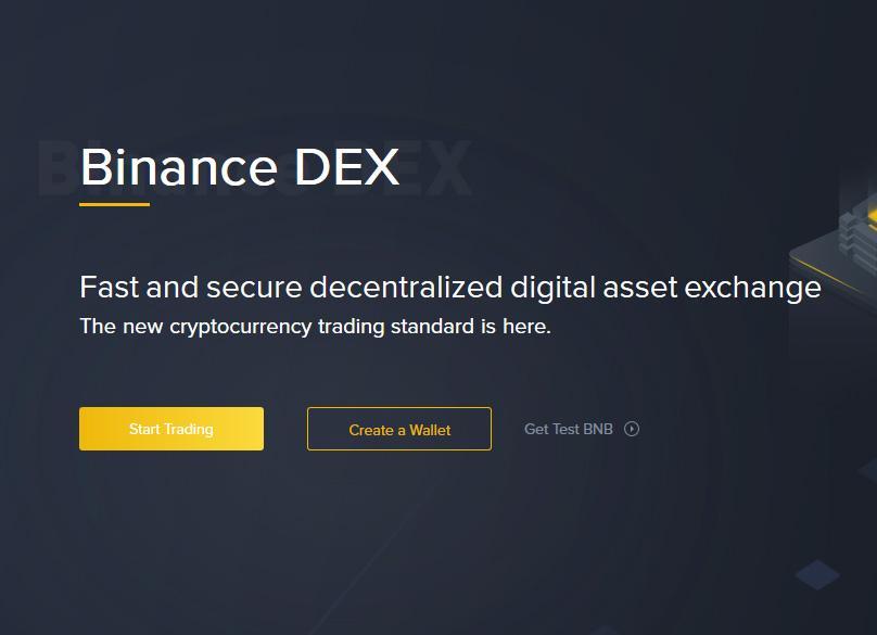 Crea portafoglio su Binance DEX