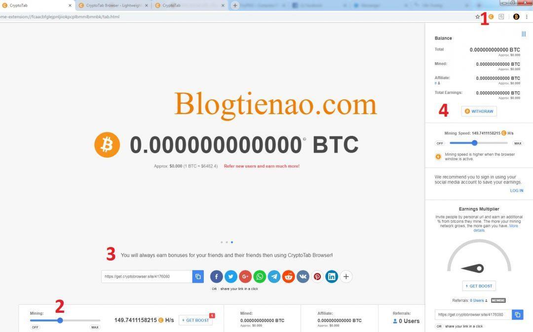 क्रिप्टो-Bitcoin-मुक्त cryptotab -3