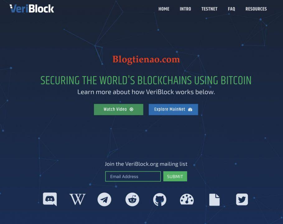 IEO VeriBlock vloer Bittrex