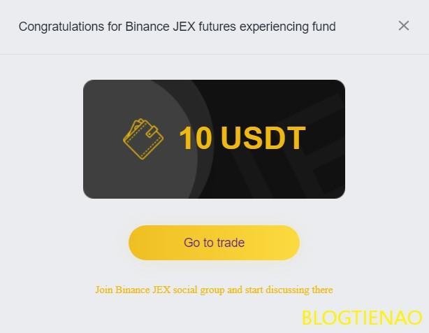 Phần thưởng lòng trung thành 10 USDT