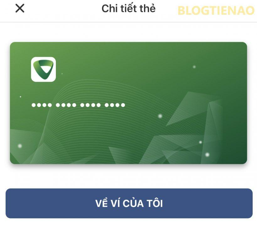 Chi tiết thẻ Vietcombank