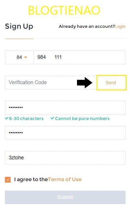 Điền mẫu đăng ký sàn SnapEx