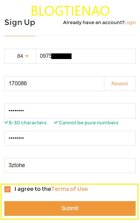 Hoàn tất đăng ký sàn Snapex
