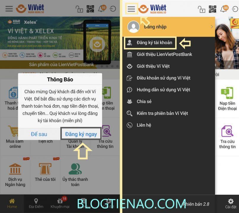 Зарегистрировать аккаунт Vi Viet
