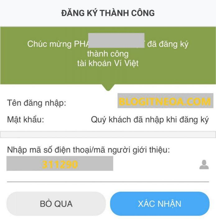 Mã giới thiệu Ví Việt