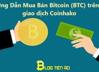 Mua bán Bitcoin trên sàn Coinhako