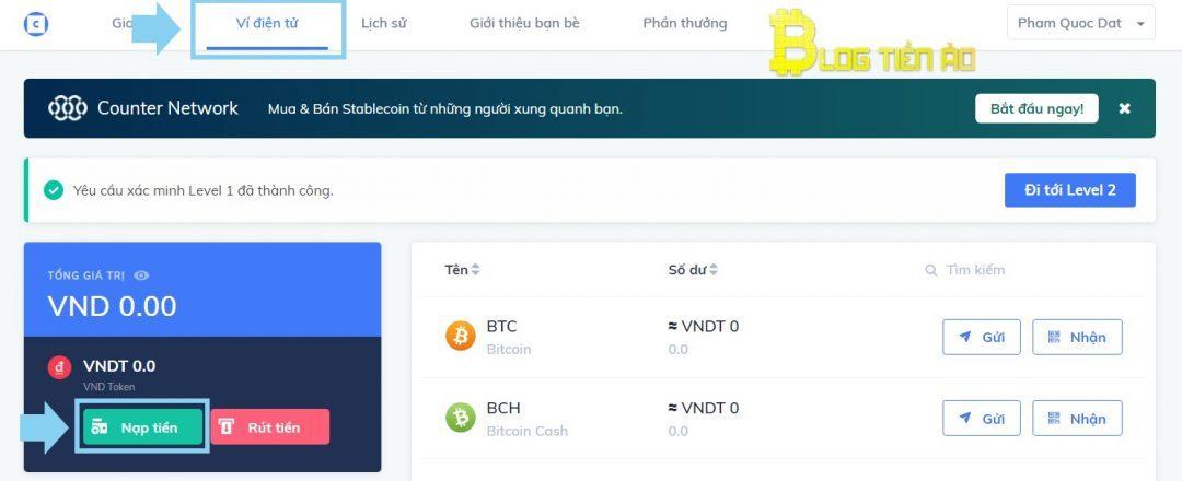 قم بإيداع VND لشراء وبيع USDT في Coinhako Exchange