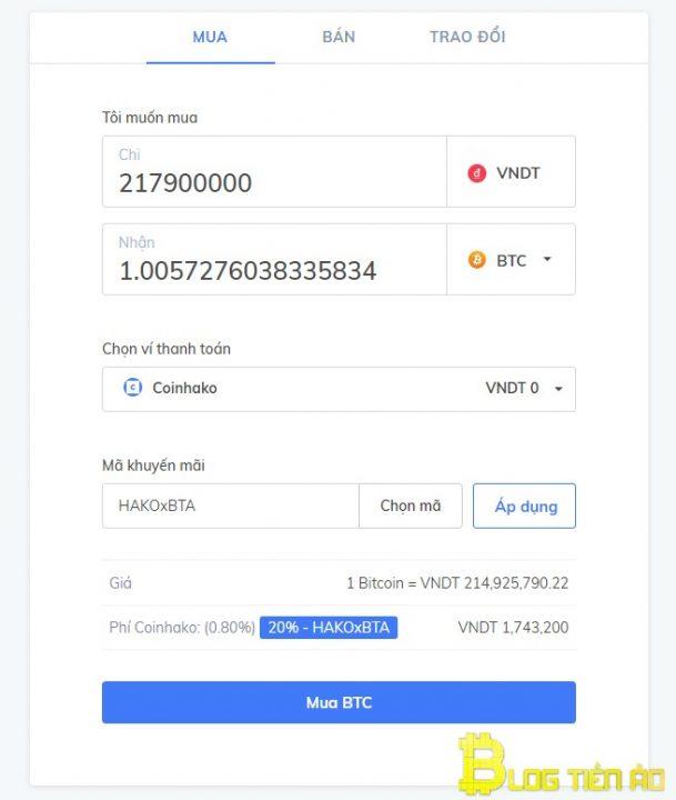 Platba nákupů bitcoinů