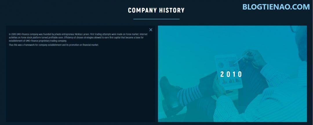 Lịch sử công ty UMO Finance