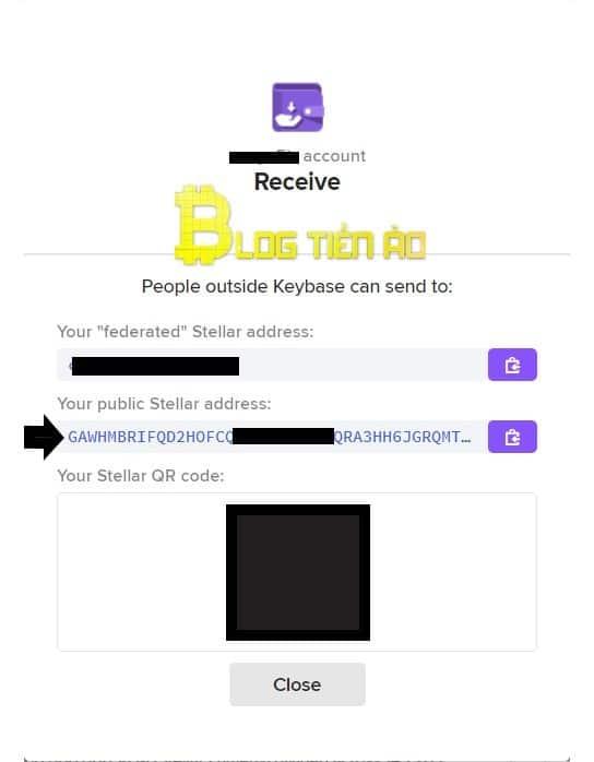 Obtenga la dirección XLM en Keybase - Foto 2